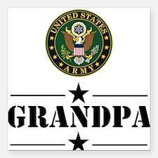"""U.S. Army Grandpa Square Car Magnet 3"""" x 3"""""""
