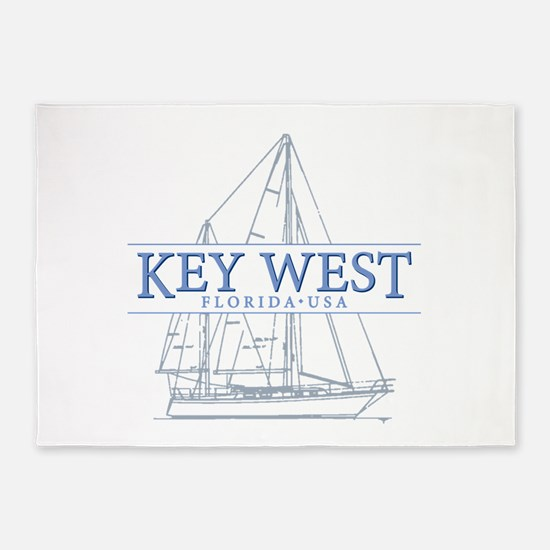 Key West Sailboat 5'x7'Area Rug