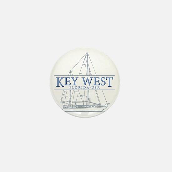 Key West Sailboat Mini Button
