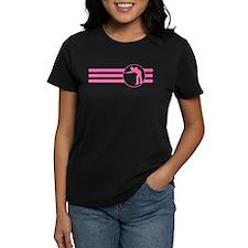 Billiards Player Stripes (Pink) T-Shirt