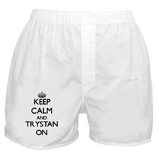 Keep Calm and Trystan ON Boxer Shorts