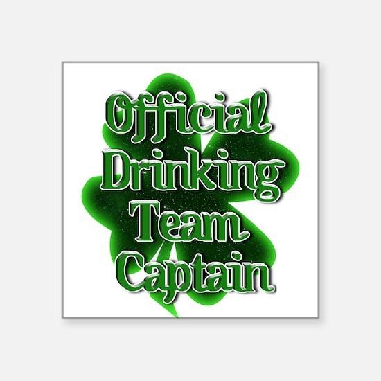 Official Drinking Team Captain Shamrock Sticker