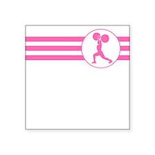Weightlifter Stripes (Pink) Sticker
