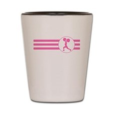 Weightlifter Stripes (Pink) Shot Glass