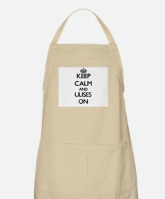 Keep Calm and Ulises ON Apron