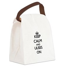 Keep Calm and Ulises ON Canvas Lunch Bag