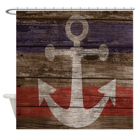Nautical Anchor Shower Curtain Shower Curtain By