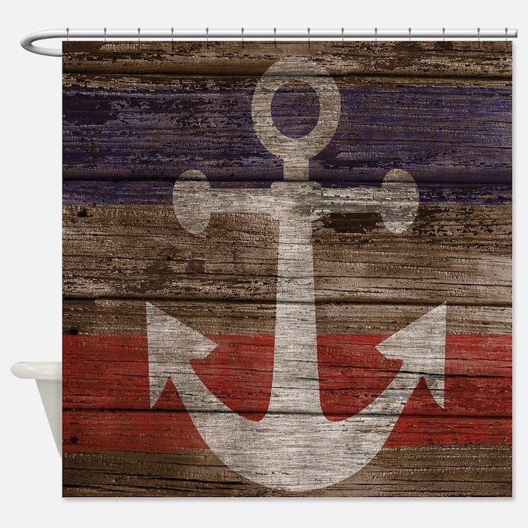 Nautical Anchor Shower Curtains