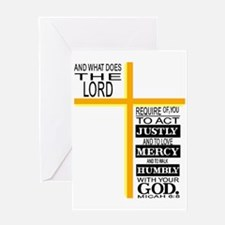 The Lord's Requirements Greeting Card
