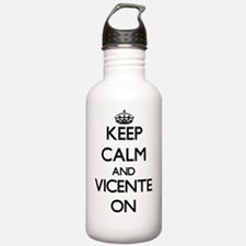 Keep Calm and Vicente Water Bottle