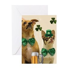 St. Patrick's Day Chihuhuas Greeting Cards