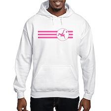 Bicycle Kick Stripes (Pink) Hoodie
