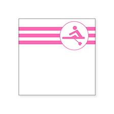 Rower Stripes (Pink) Sticker
