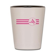 Rower Stripes (Pink) Shot Glass