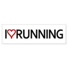 I Heart Running Bumper Bumper Sticker
