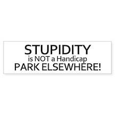 Handicap Parking Bumper Bumper Sticker