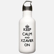 Keep Calm and Xzavier Water Bottle