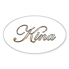 Gold Kina Decal