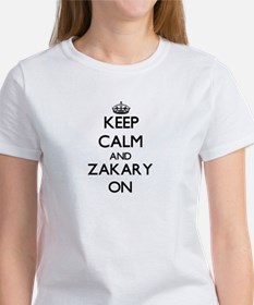 Keep Calm and Zakary ON Women's Cap Sleeve T-Shirt