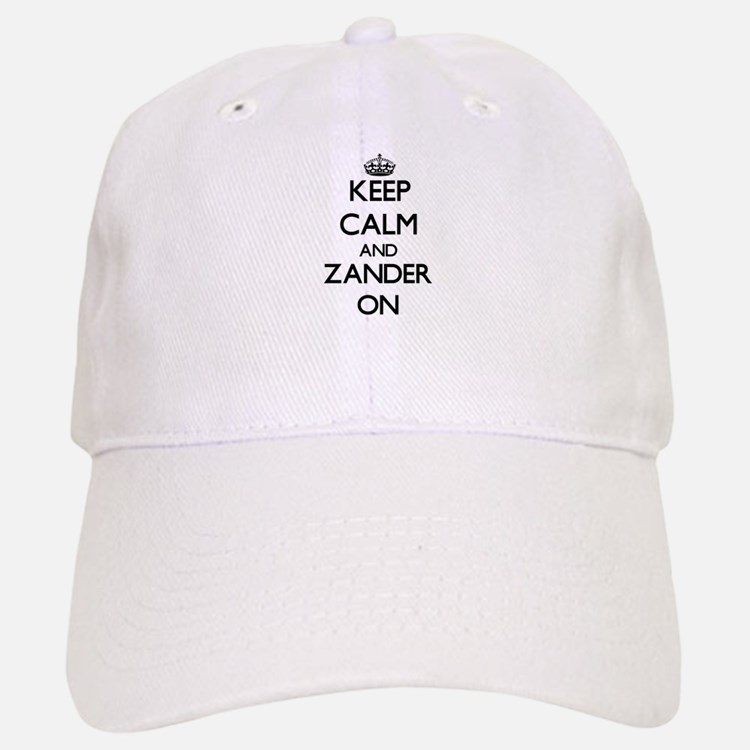 Keep Calm and Zander ON Baseball Baseball Cap