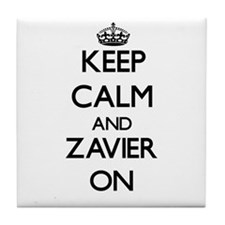 Keep Calm and Zavier ON Tile Coaster