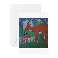 Doe and Fawn Greeting Cards