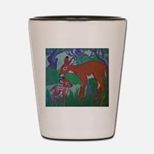 Doe and Fawn Shot Glass