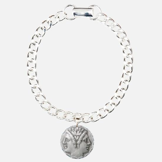 Ancient Coin Showing Janus Round Bracelet