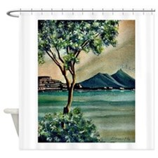 The Bay Of Naples Shower Curtain