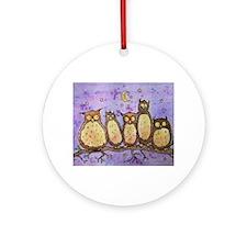 Daft Owls Ornament (Round)