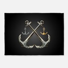 Shiny Anchors 5'x7'Area Rug
