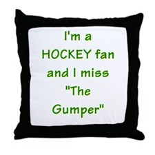 I miss Gump Worsley Throw Pillow