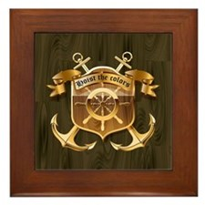 Hoist The Colors Framed Tile