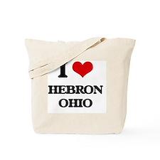 I love Hebron Ohio Tote Bag