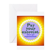 Excorcist Bill Greeting Cards