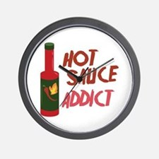 Hot Sauce Addict Wall Clock