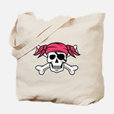 Pink Pirate Tote Bag