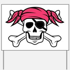Pink Pirate Yard Sign