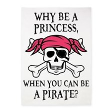 Pink Pirate 5'x7'Area Rug