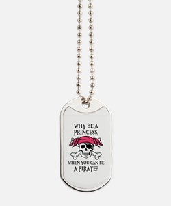 Pink Pirate Dog Tags
