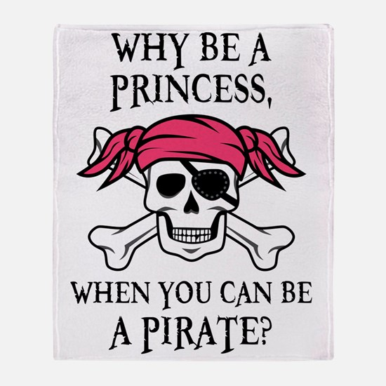 Pink Pirate Throw Blanket