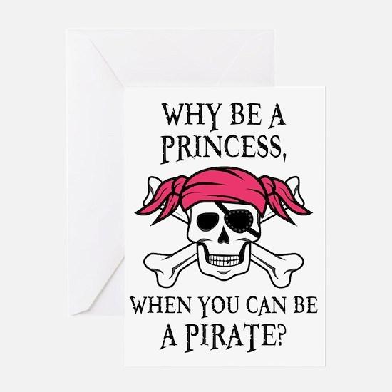 Pink Pirate Greeting Card
