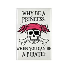 Pink Pirate Rectangle Magnet