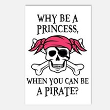 Pink Pirate Postcards (Package of 8)