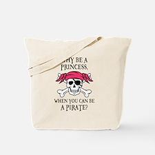 Pink Pirate Tote Bag
