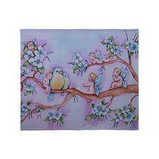 Blossom Fairies Throw Blanket