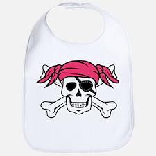 Pink Pigtail Pirate Bib