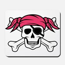 Pink Pigtail Pirate Mousepad