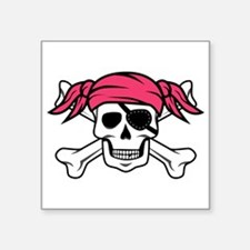 Pink Pirate Sticker
