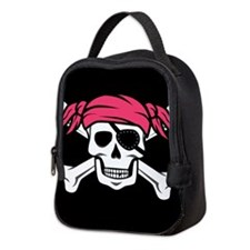 Pink Pigtail Pirate Neoprene Lunch Bag